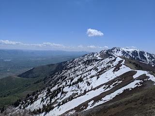 Utah mountain top view