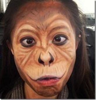 Maquillaje de gorila (3)