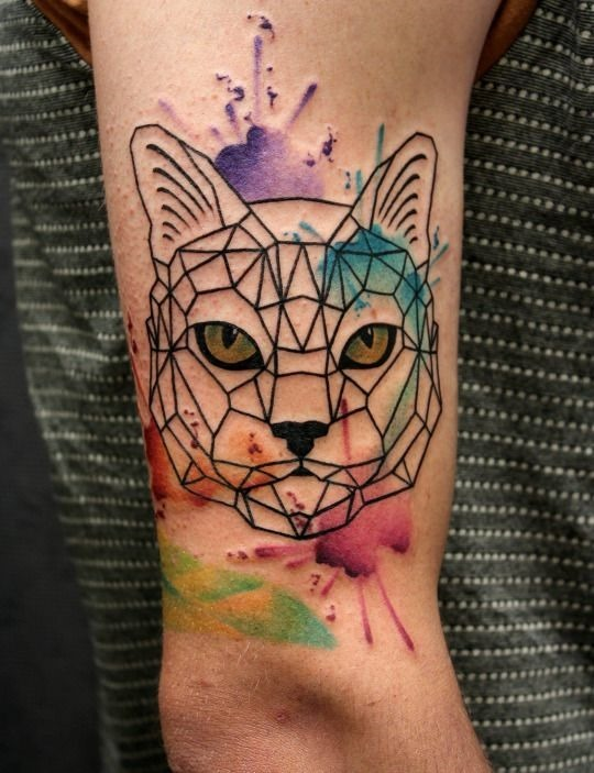 aquarela_salpicada_de_olhos_amarelos_braço_de_tatuagem