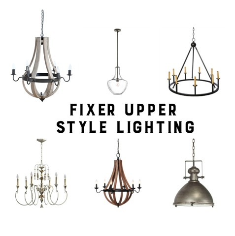fixer upper lighting