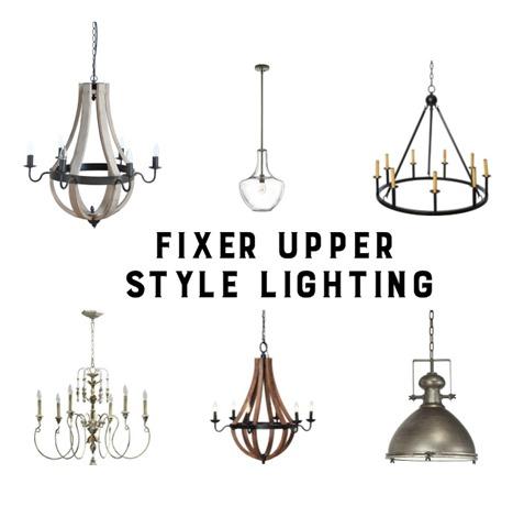 Vintage fixer upper lighting
