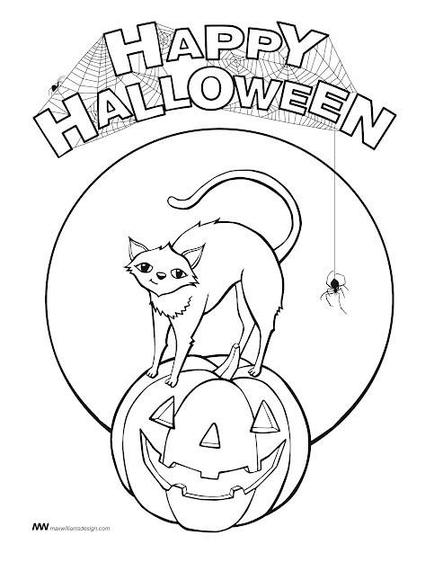 Happy Halloween Coloring Pages To Print