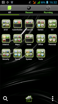 GO Launcher EX-Glossy Green Theme-03