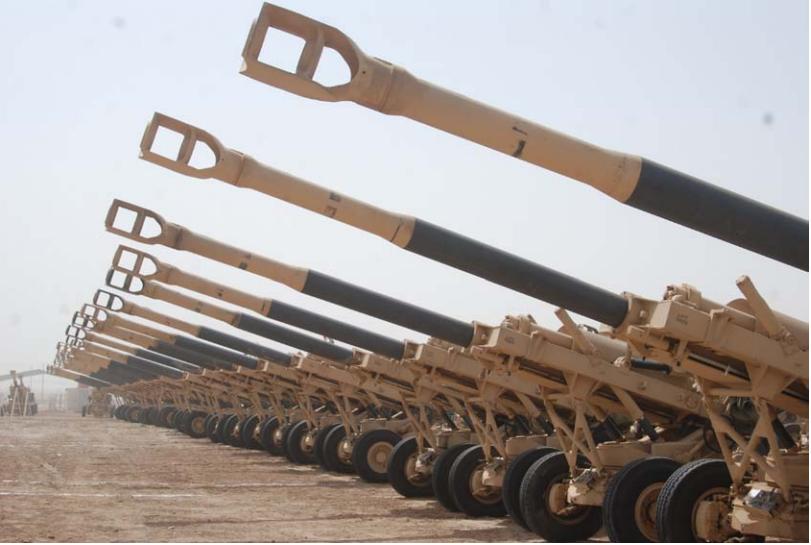 مدفع الهاوتزر المقطور m198 M198+lineup+2