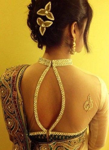 Sleeveless blouse , backless blouse design for saree, collard blouse