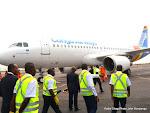L'arrivée de l'Airbus A 320 de la compagnie aérienne Congo Airways à Kinshasa le 30/07/2015. Radio Okapi/Ph. John Bompengo