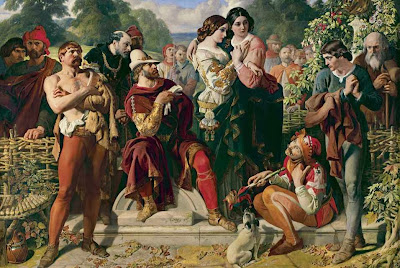 Daniel Maclise - The Wrestling Scene in 'As You Like It'