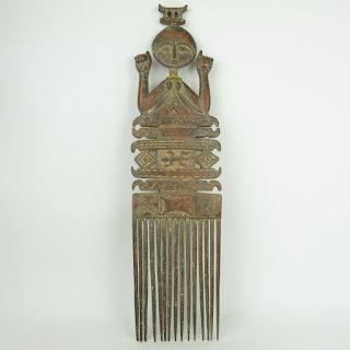 Tribal Wood Art Comb