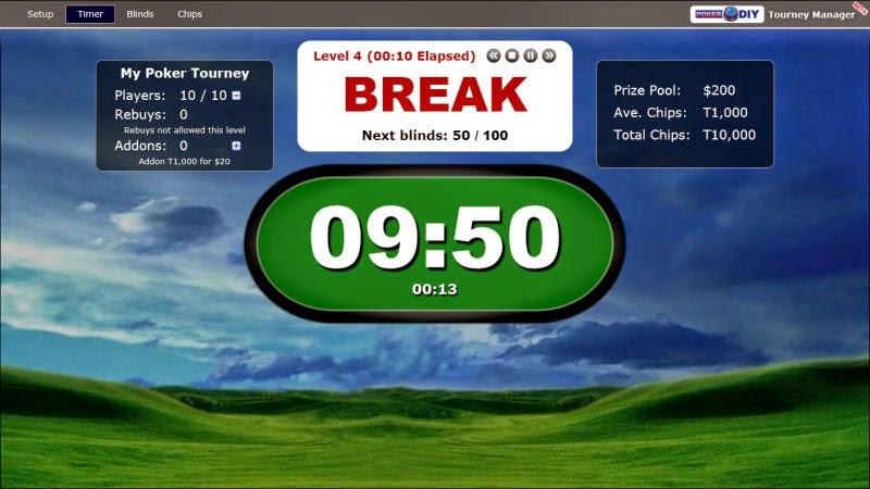 Free poker blind timer