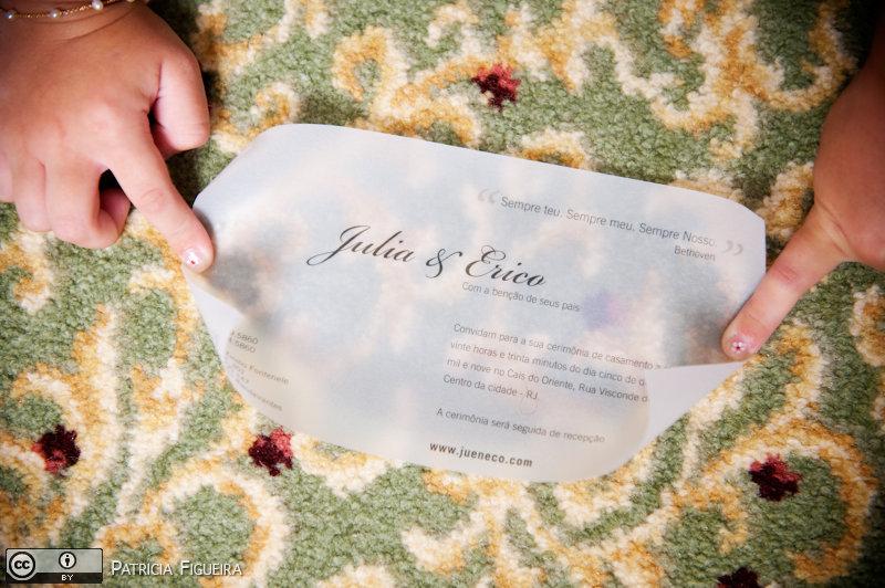 Foto de casamento 0013 de Julia e Erico. Marcações: 05/12/2009, Casamento Julia e Erico, Convite, Convite de Casamento, Gizela Studio 311, Rio de Janeiro.