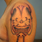 mask angel and demon tattoo
