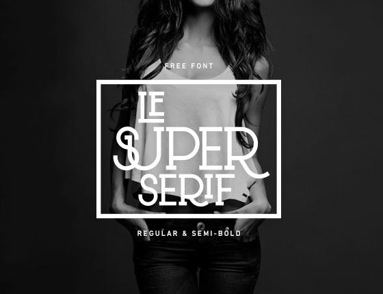 Le Super Serif Free Fonts