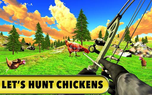 Code Triche Chicken Hunting 2019 - Jeux de tir au vrai poulet APK MOD screenshots 6