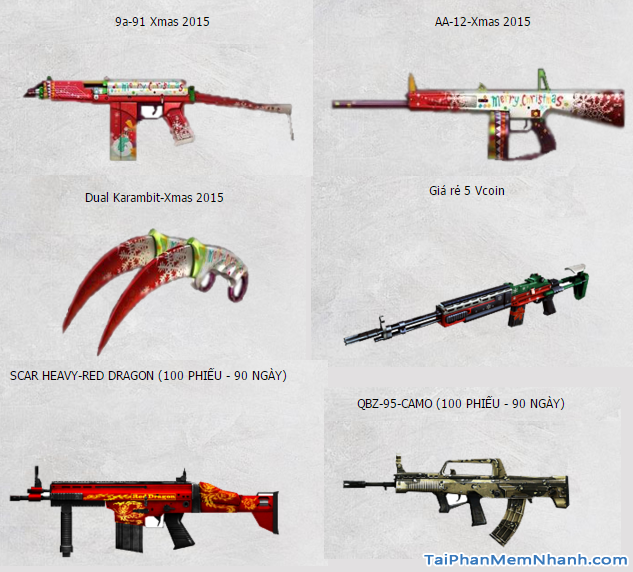 vũ khí game đột kích mới
