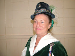 Beth in her Tudor chapeau