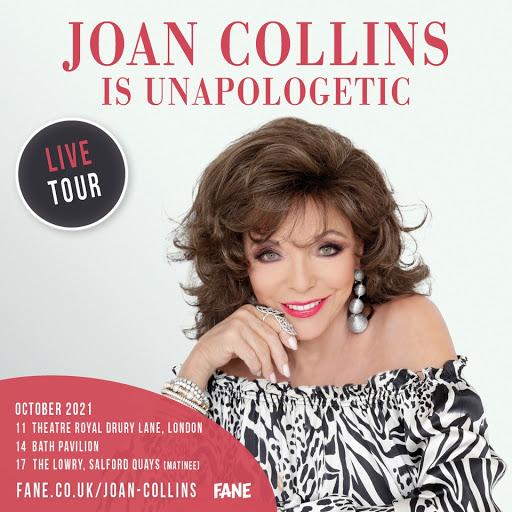 JOAN COLLINS LIVE TOUR! OCTOBER 2021..