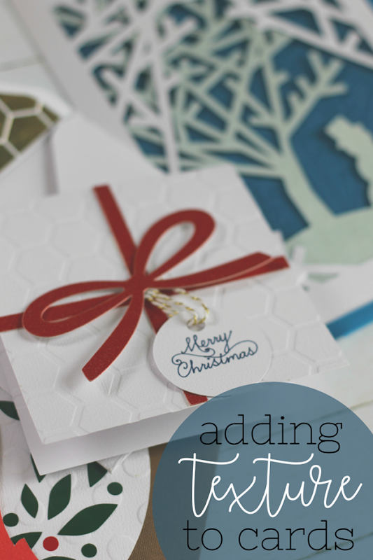 Adding Texture to Cards with a Cricut Cuttlebug