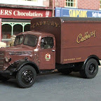 BED10; CH5;W20 Cadbury's delivery van    Used throughout the UK circa 40-50s for deliveries to confectioners and wholesalers, often on contract from the railway companies. No suitable size RTI box, so a Pocket Bond/Classix has been fitted and repainted.