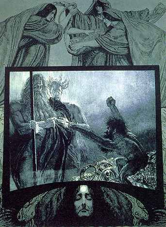 Wotan And Loge In Svartalfheim, Asatru Gods And Heroes