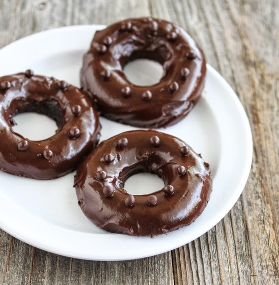 photo of three mochi donuts on a plate