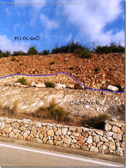 Contacto Cretácico Mioceno