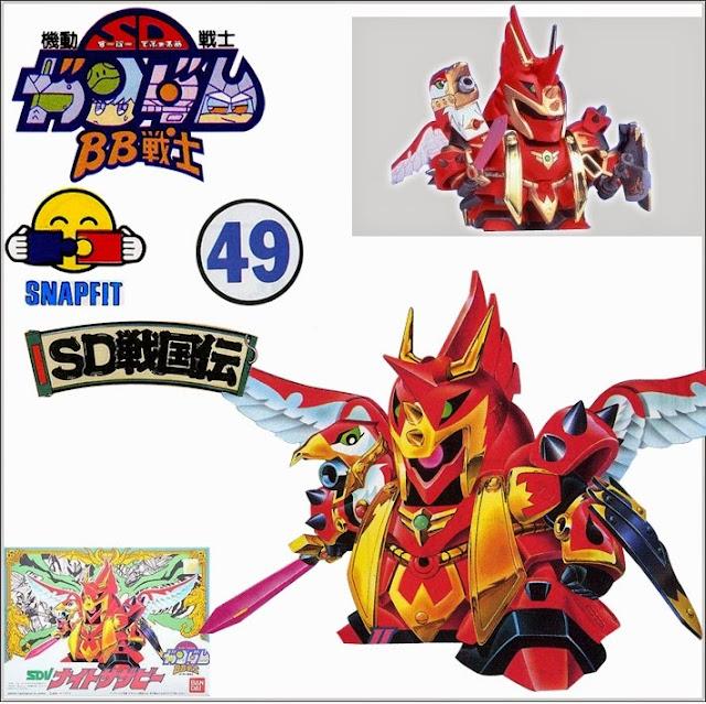 Đồ chơi lắp ghép mô hình Knight Sazabi BB-049 SD Gundam Gaiden thật bổ ích và lý thú