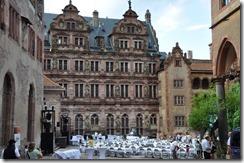 Heidelberg schloss facade renaissace. dite aille de Fredric IV et statues représentant ses ancetres