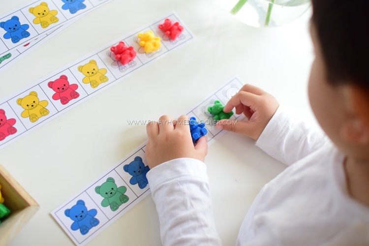 Pattern Recognition Activity with Bear Counters
