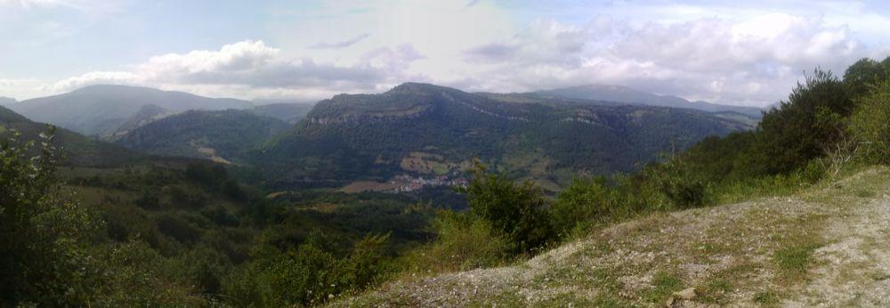 Vista de Orbara desde Villanueva de Aezkoa