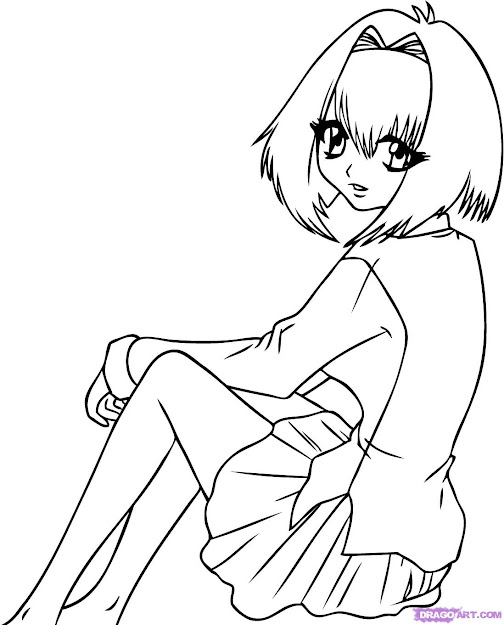 Anime Vampire Girl Coloring Pages How To Draw Karin Maak