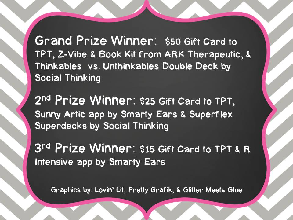 Happy to be an SLP Blog Hop Prizes