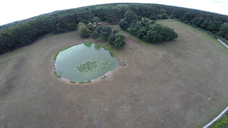 wynajem drona zdjęcia z lotu ptaka z drona Bydgoszcz, Myślęcinek z lotu ptaka