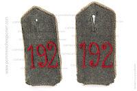 Shoulder straps of Kgl. Sächsisches Infanterie-Regiment Nr.192