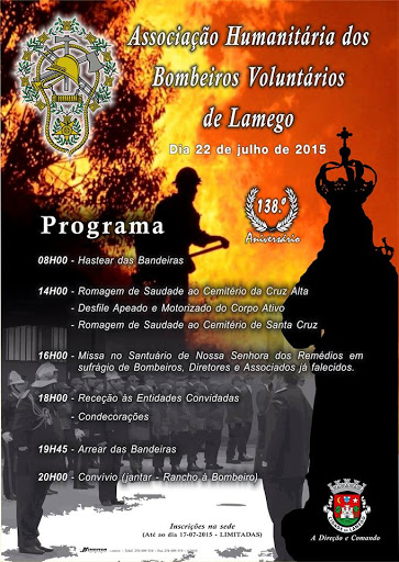 Programa - 138º Aniversário da Associação Humanitária dos Bombeiros Voluntários de Lamego