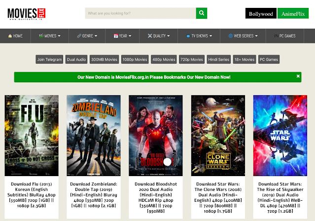 Moviesflix 2021: अवैध नि: शुल्क मूवी डाउनलोड वेबसाइट