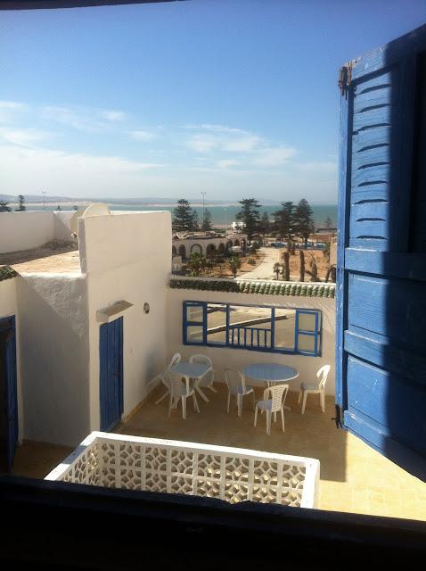 klasyczny Riad - widok na taras z ostatniego piętra. Essouira
