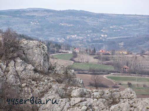 Сербия Сокоград Вид на окрестности