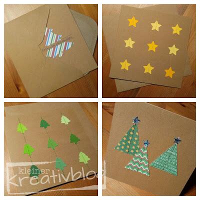 http://www.kleiner-kreativblog.de Weihnachtskarten