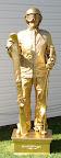 Gold Skier statue