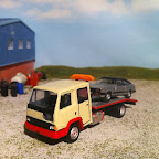 Leyland Road runner beavertail- converted the cab to a crew cab with a scratch built beaver tail body