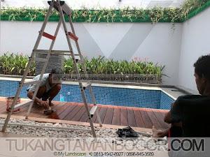 Jasa Tukang Taman, Kolam, Gazebo -3- Pengecatan Lantai Kayu Parket (Parquet)