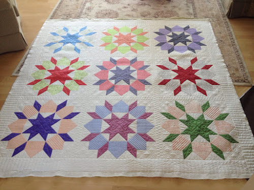 Swoon quilt after quilting
