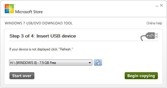 Windows USB Tool Choose USb Drive