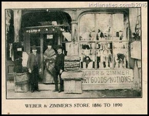 Weber & Zimmer Dry Goods Store, Indianapolis, 1886 - 1912