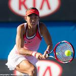 Shuai Zhang in action at the 2016 Australian Open