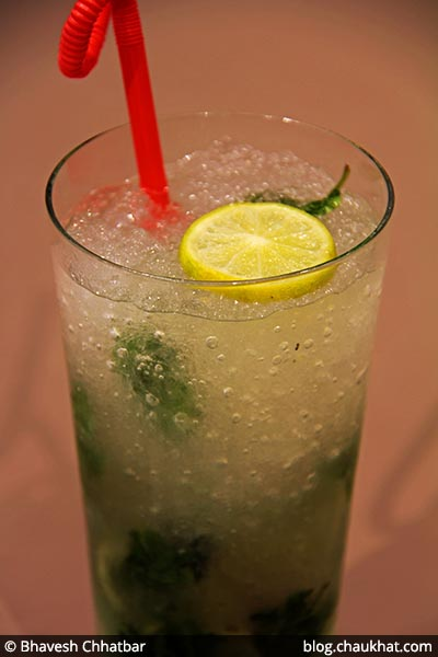 Lemonade served at 212 All Day Cafe & Bar at Phoenix Marketcity in Pune
