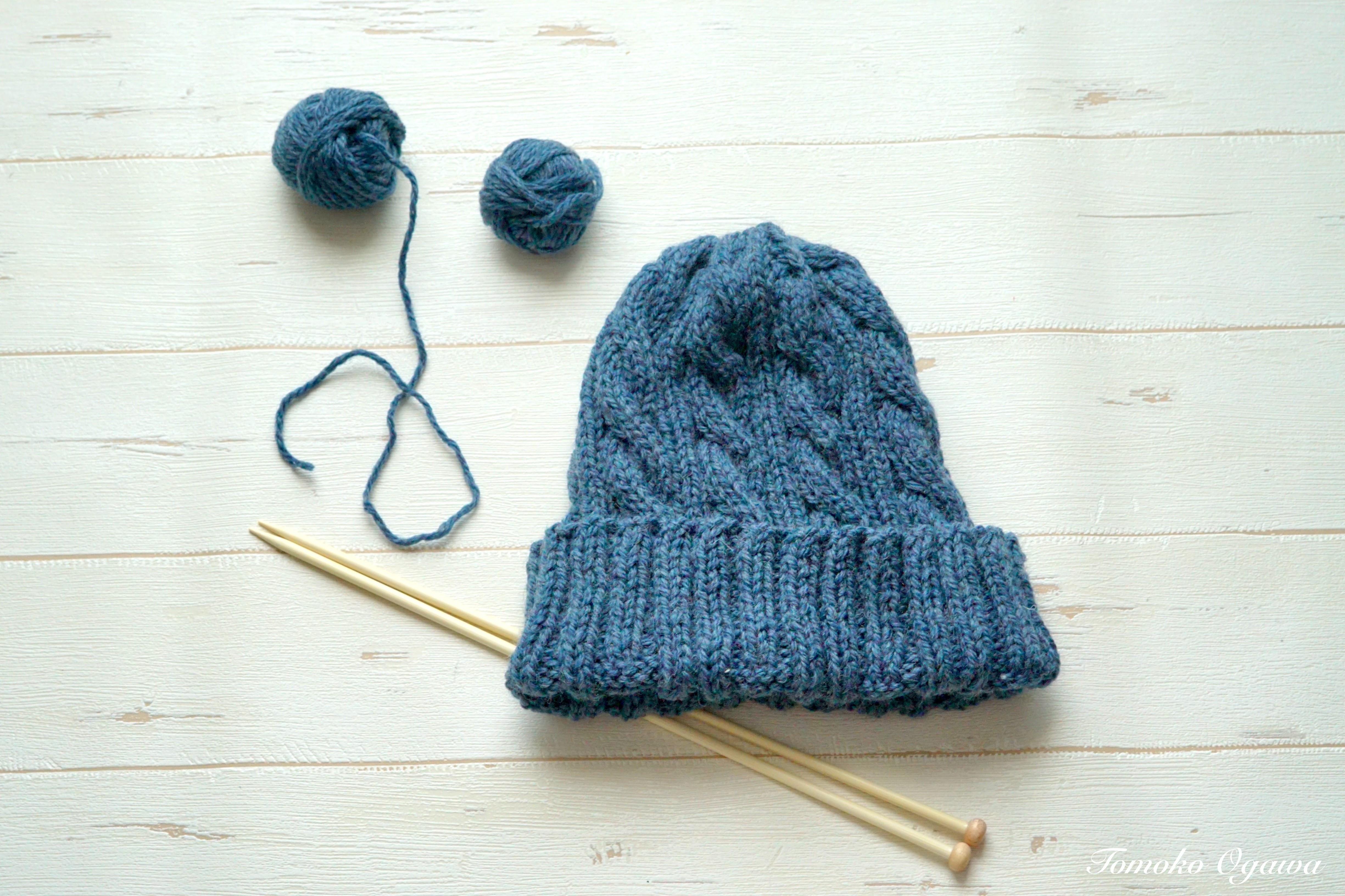 ニット 棒針 編み 大人 帽子 方 の の 編み物で手編み帽子を作ろう!初心者でも簡単ニット帽の編み方5選