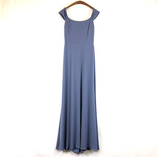 Amsale NEW Periwinkle Maxi Dress