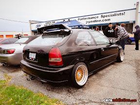 Stanced Black EK Civic