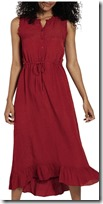 Fat Face washed red dress